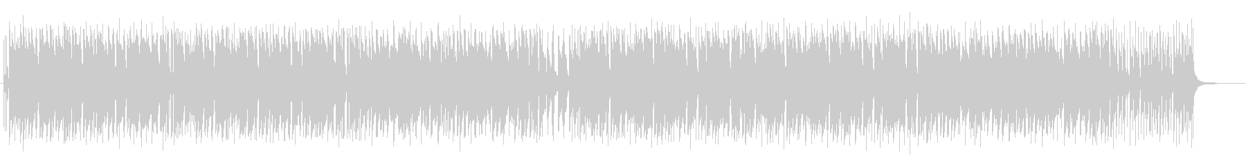 まったりした日常感のあるピアノ曲の未再生の波形