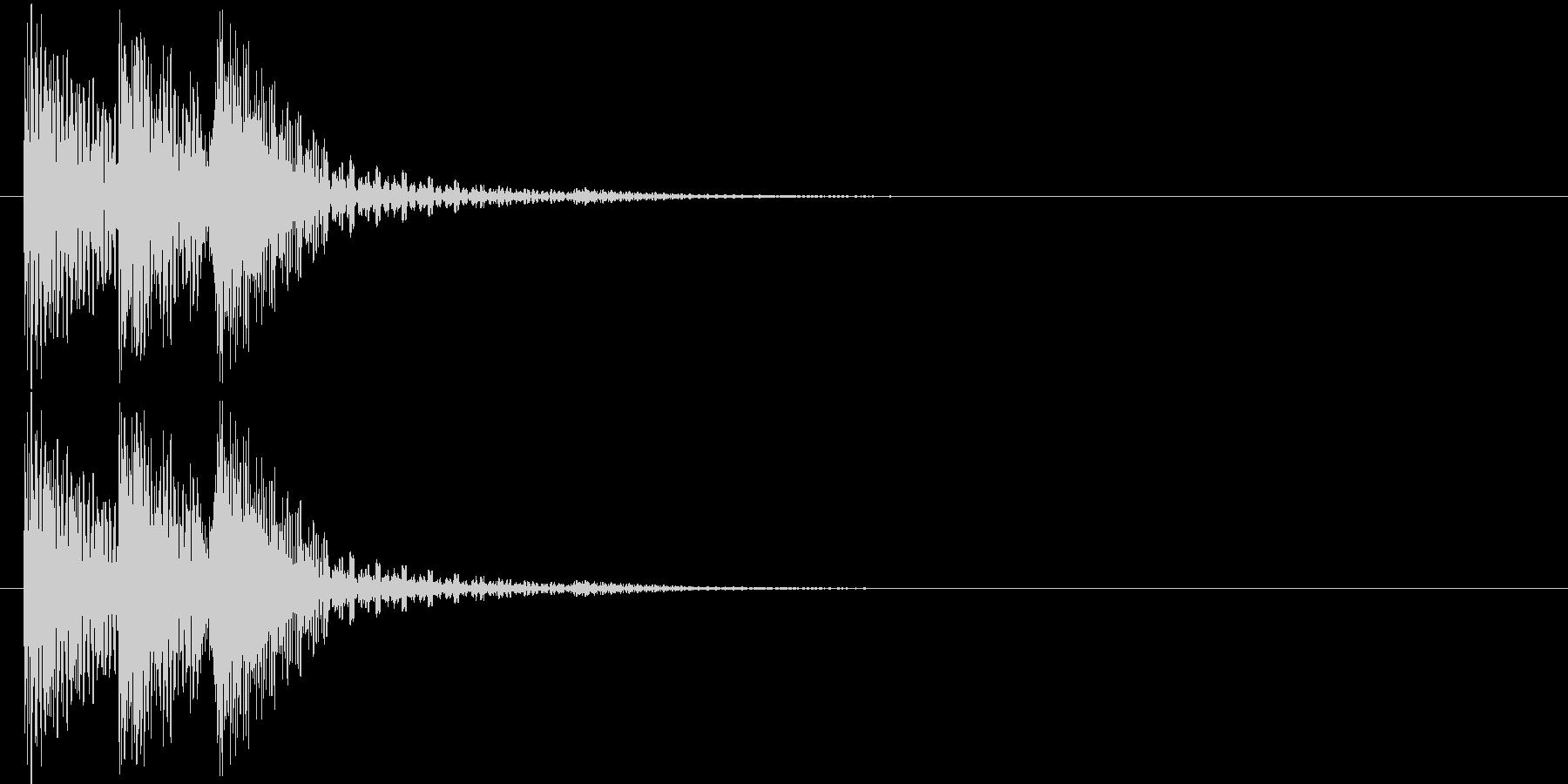ピロリン!(決定音)の未再生の波形