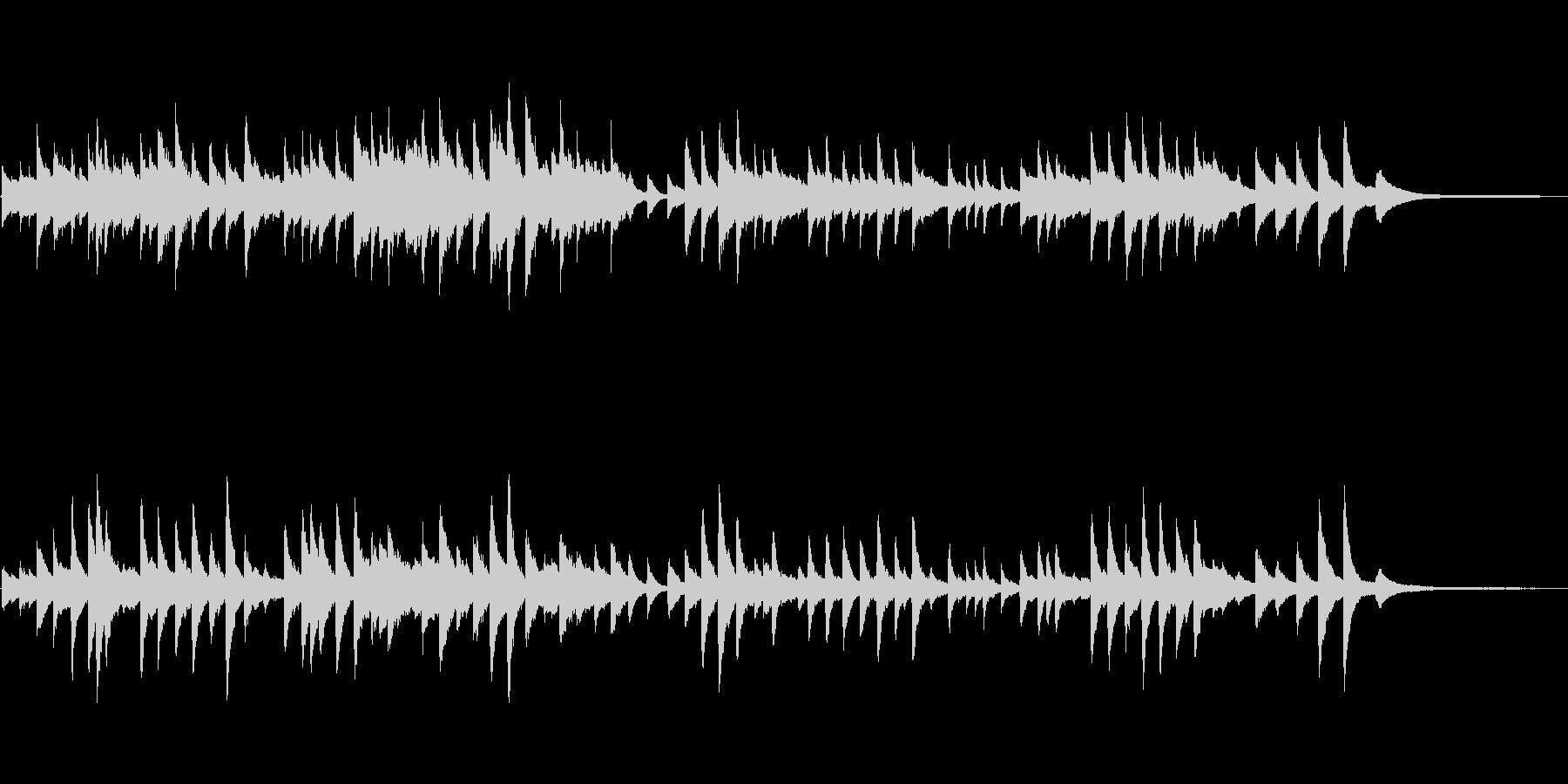 童謡「たなばたさま」 ピアノソロの未再生の波形