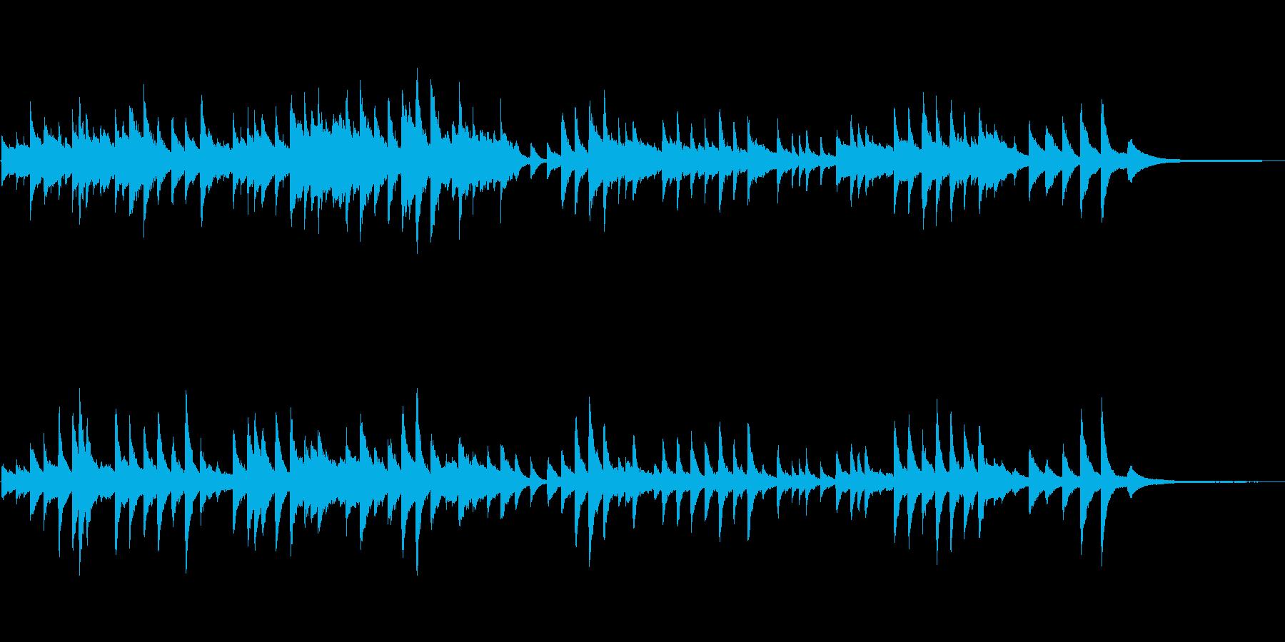 童謡「たなばたさま」 ピアノソロの再生済みの波形