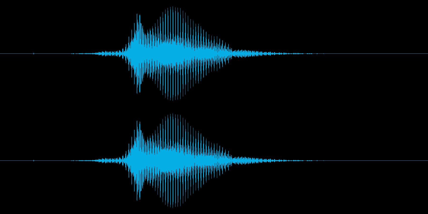 【数字】1(ワン)の再生済みの波形