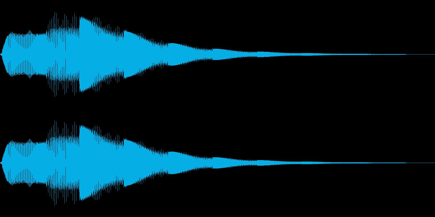 電子的な決定音の再生済みの波形