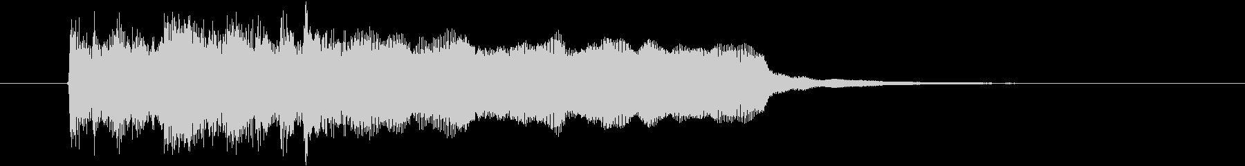 アップテンポなオーケストラ音楽の未再生の波形