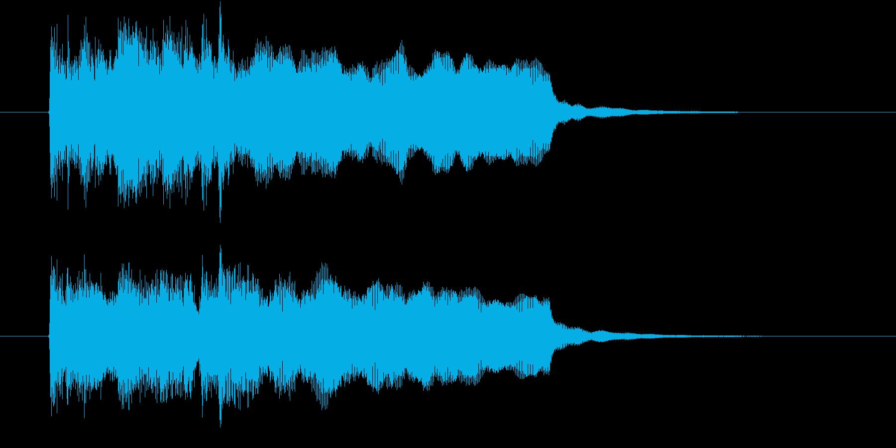 アップテンポなオーケストラ音楽の再生済みの波形