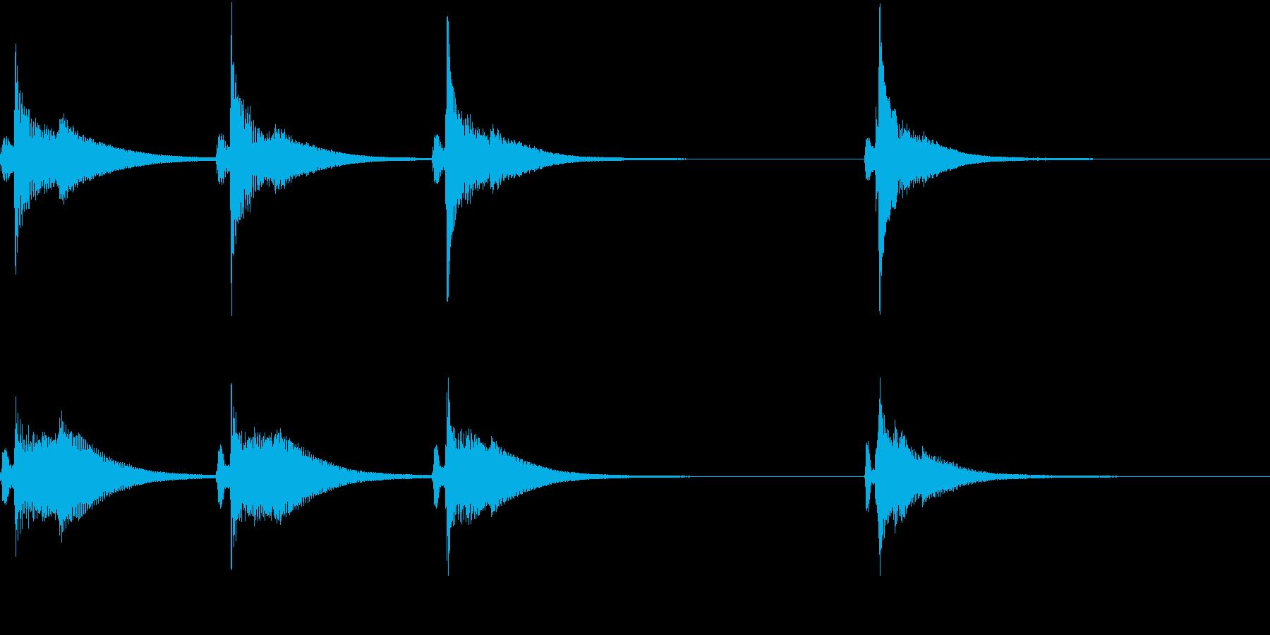 Kawaii メルヘンな受信・通知音 3の再生済みの波形