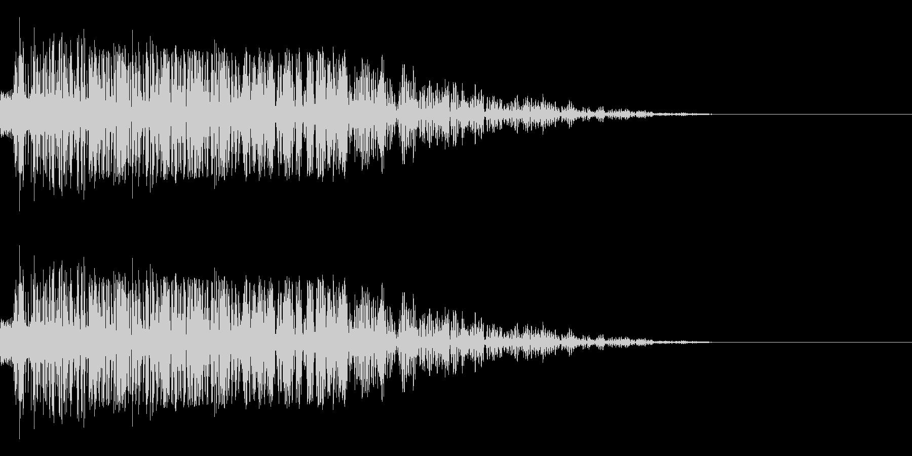 シャキーン(刀/和風/アプリ/決定音)の未再生の波形