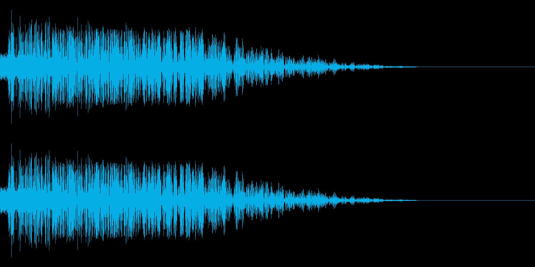 シャキーン(刀/和風/アプリ/決定音)の再生済みの波形