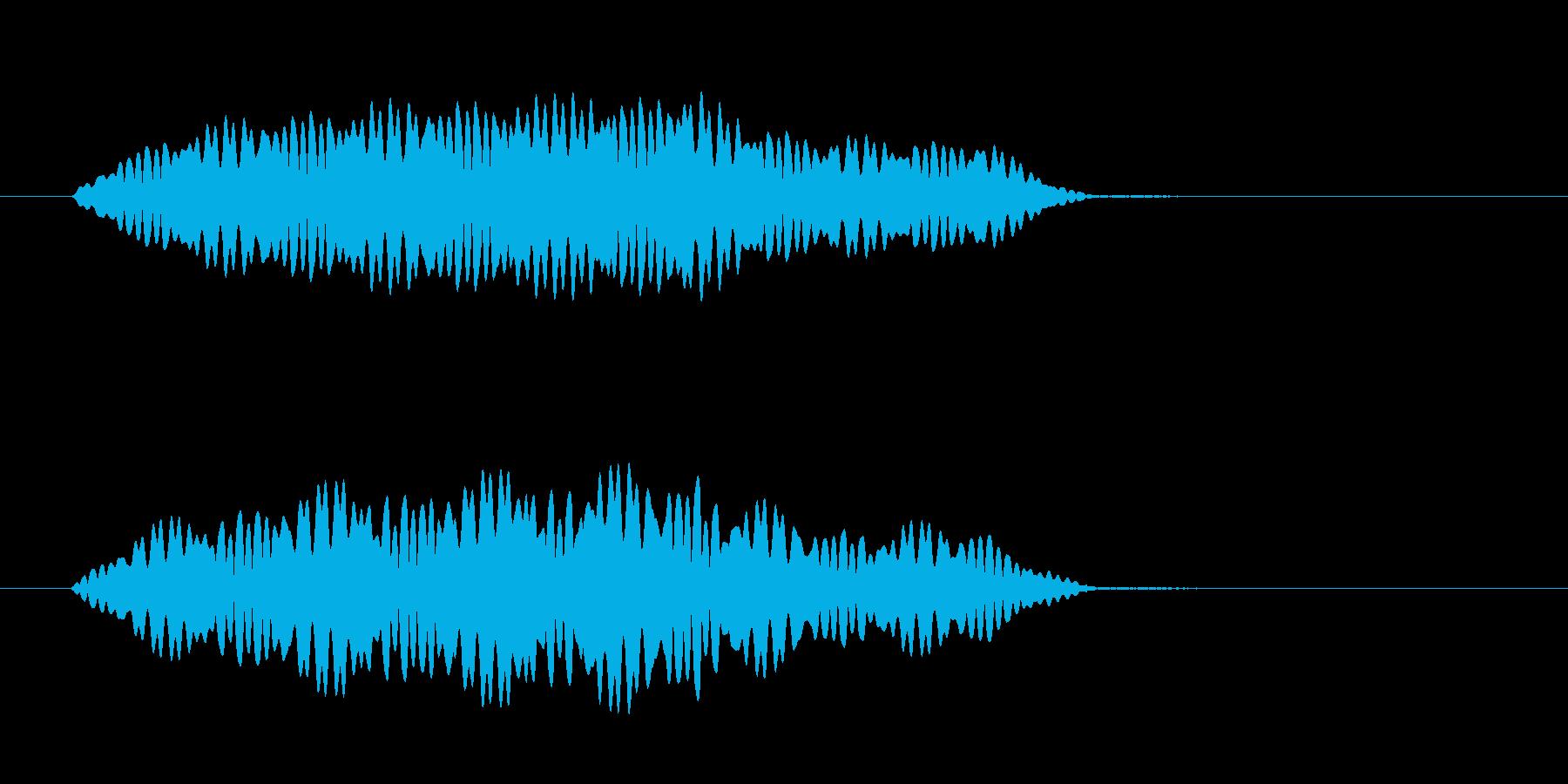 フィ~ンとUFOが回転しながら浮遊する音の再生済みの波形