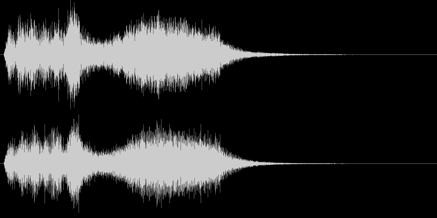ストリングスによるサスペンス風ジングルの未再生の波形