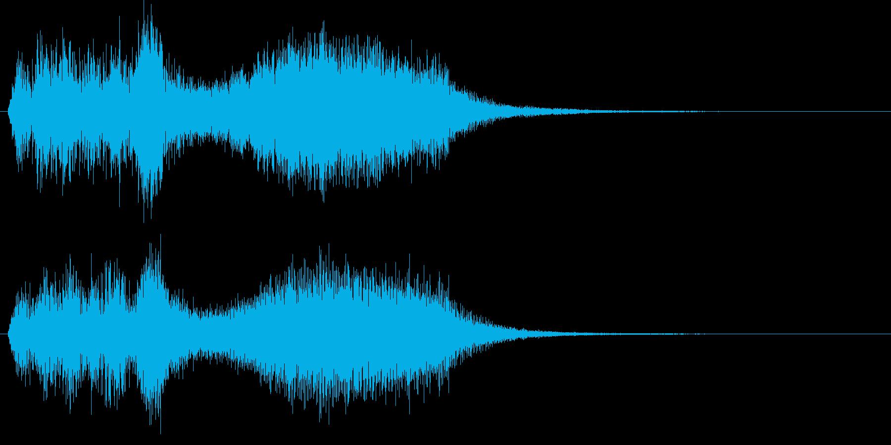 ストリングスによるサスペンス風ジングルの再生済みの波形