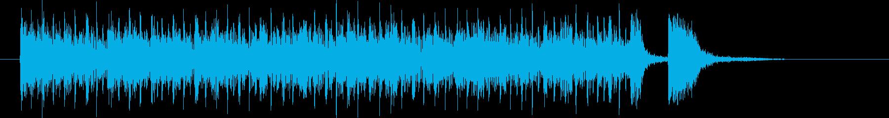 うねるベースと躍動感あるドラムのハウスの再生済みの波形