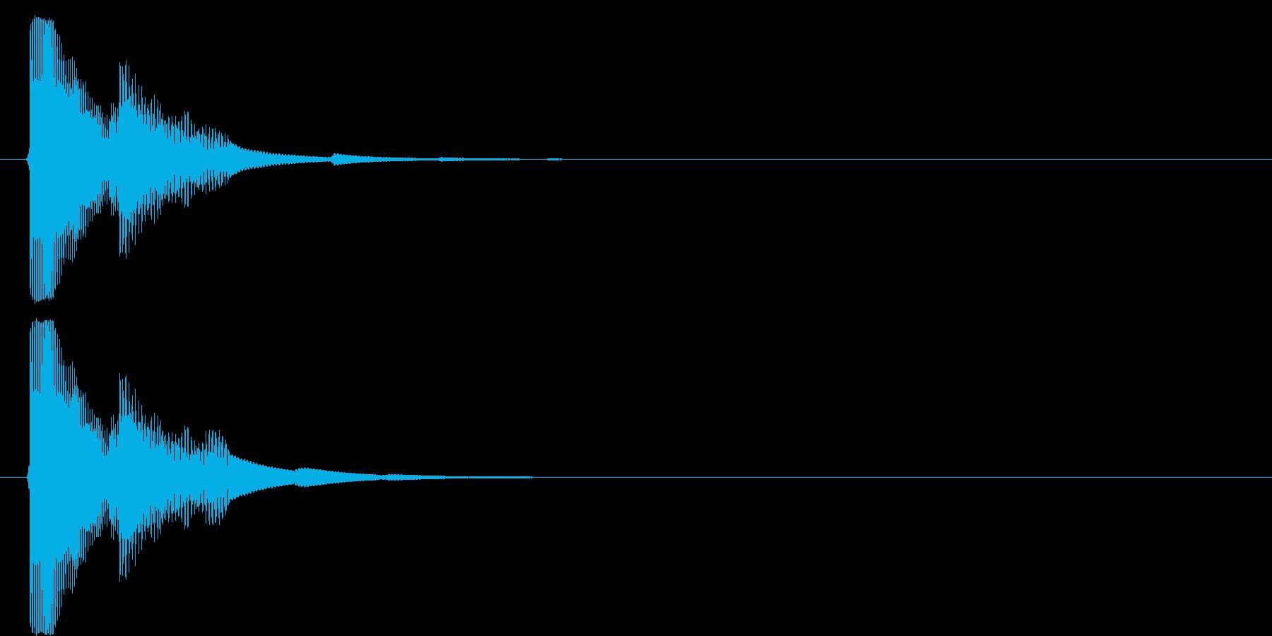 決定音4の再生済みの波形