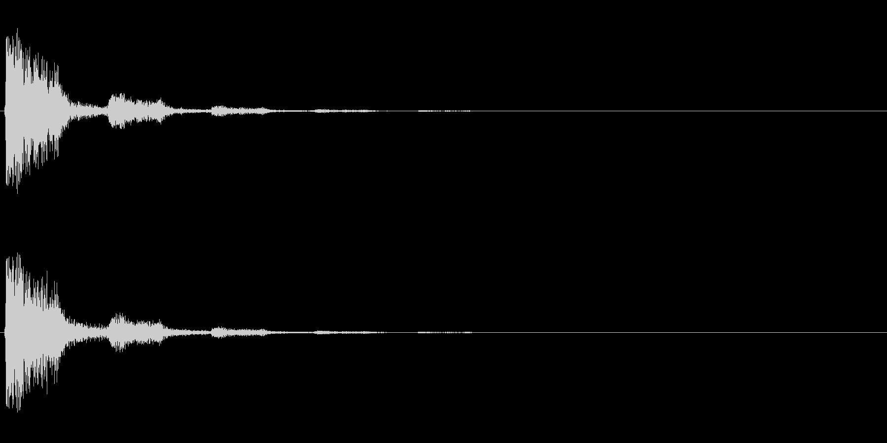 【打撃02-2】の未再生の波形