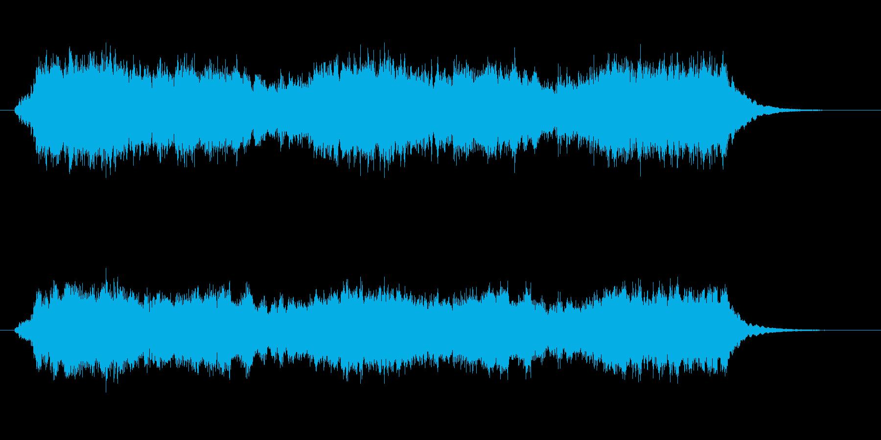 壮大でゆったりしたシンセサウンド短めの再生済みの波形