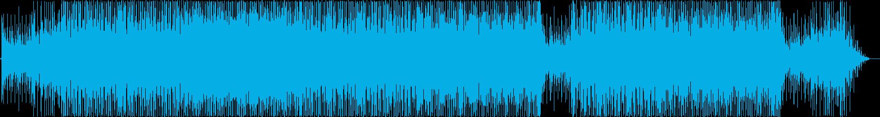 海岸線をドライブするようなピアノハウスの再生済みの波形