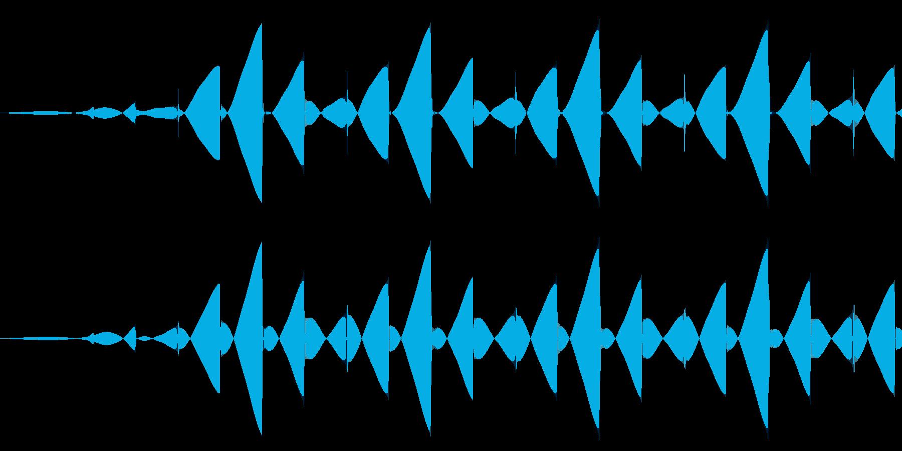 パソコン/キャンセル/ブッの再生済みの波形