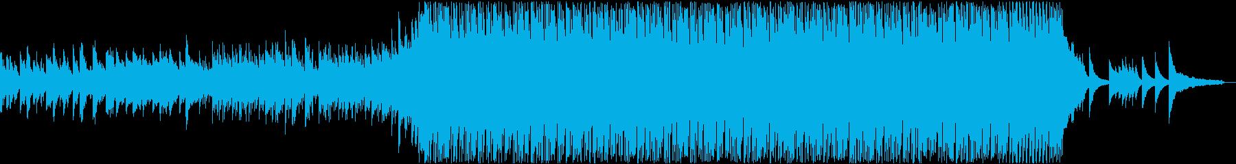 ピアノとストリングスの熱いドラムンベースの再生済みの波形