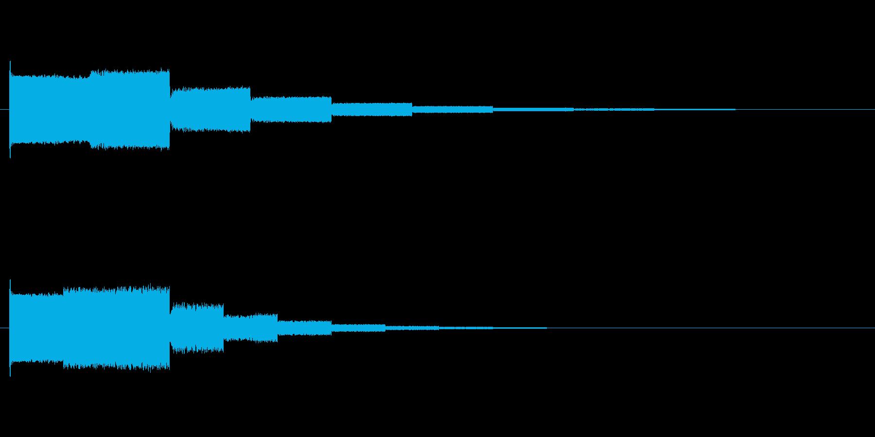 効果音ポワーンの再生済みの波形