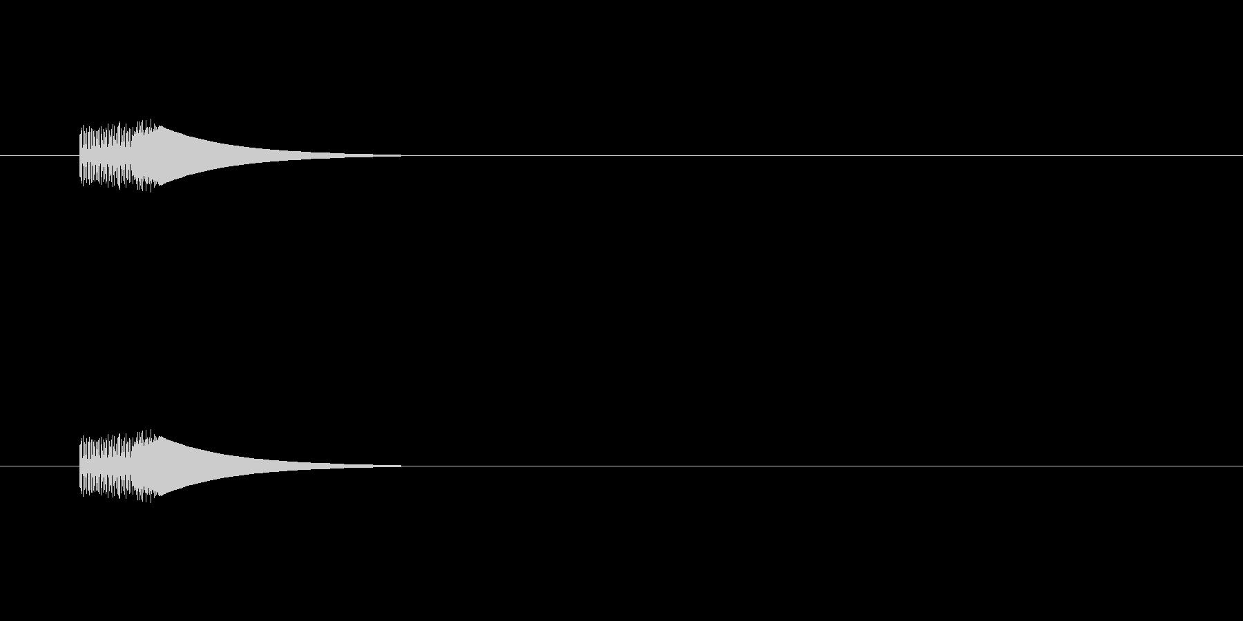 【アクセント17-1】の未再生の波形