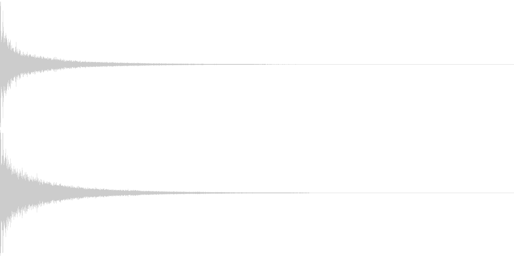 インパクト/ドラム/ヒット/パーン!/1の未再生の波形