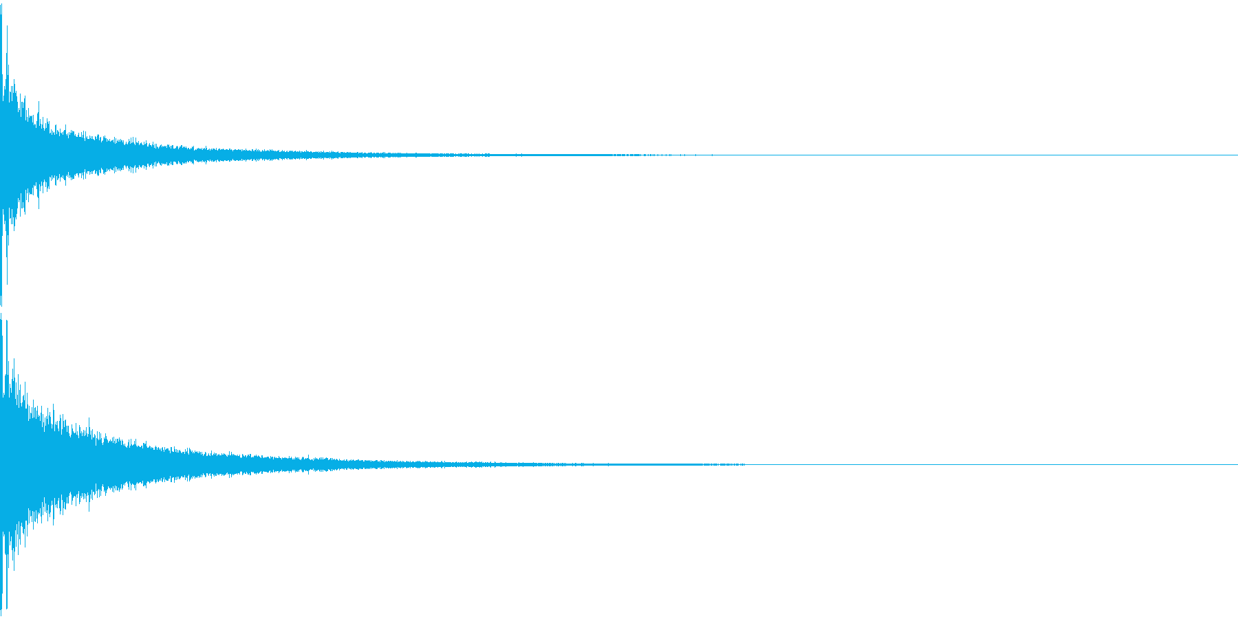 インパクト/ドラム/ヒット/パーン!/1の再生済みの波形