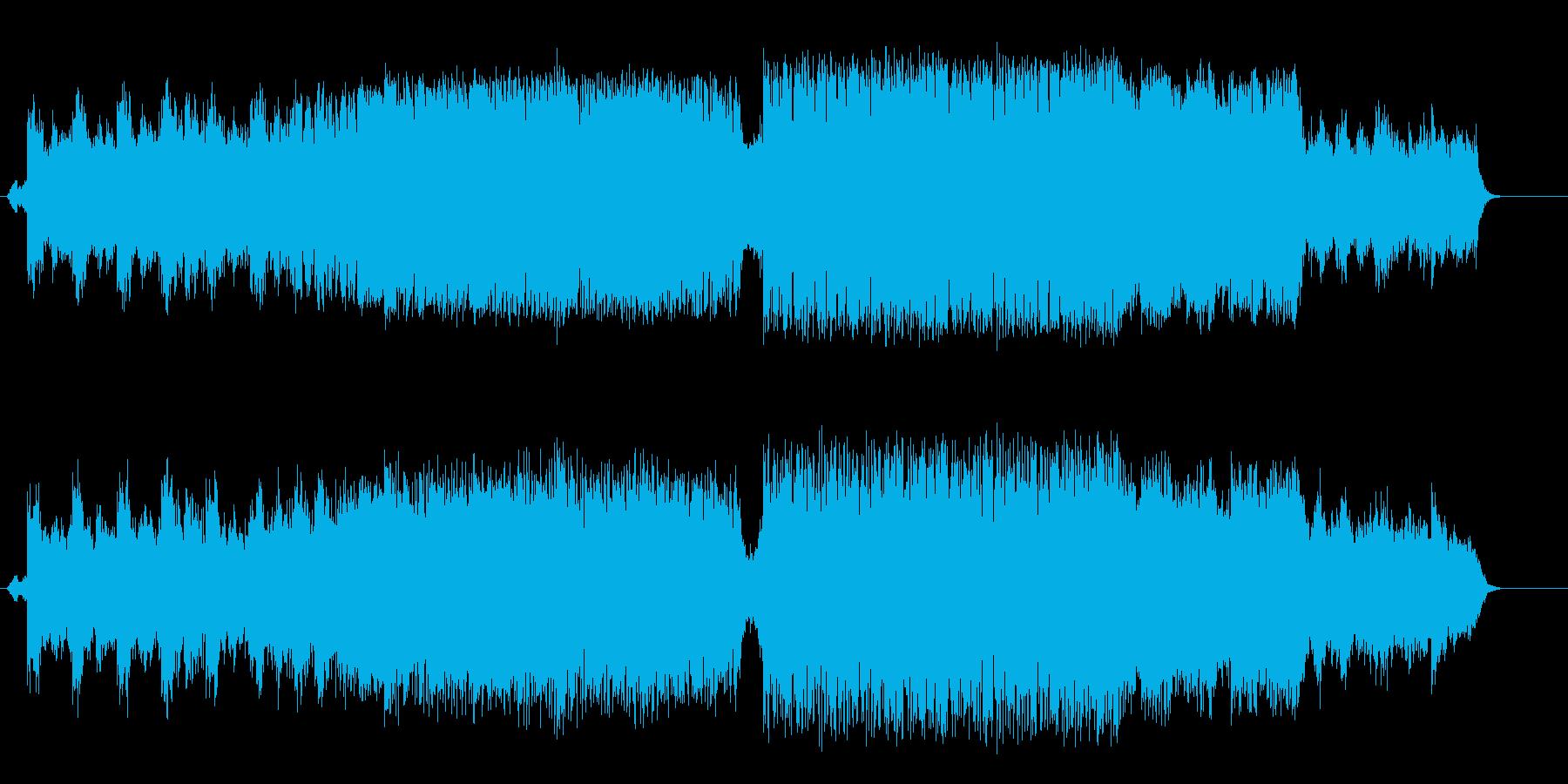 雄大で力が漲るドキュメント風/ハウスの再生済みの波形