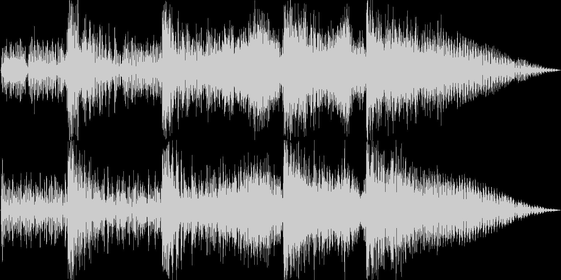 サイファイのダークでSF的な衝撃音3の未再生の波形