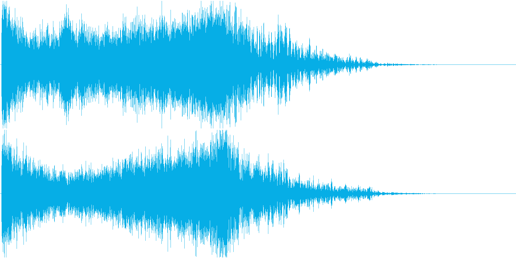 ホラゲーで使える緊張感のある効果音の再生済みの波形