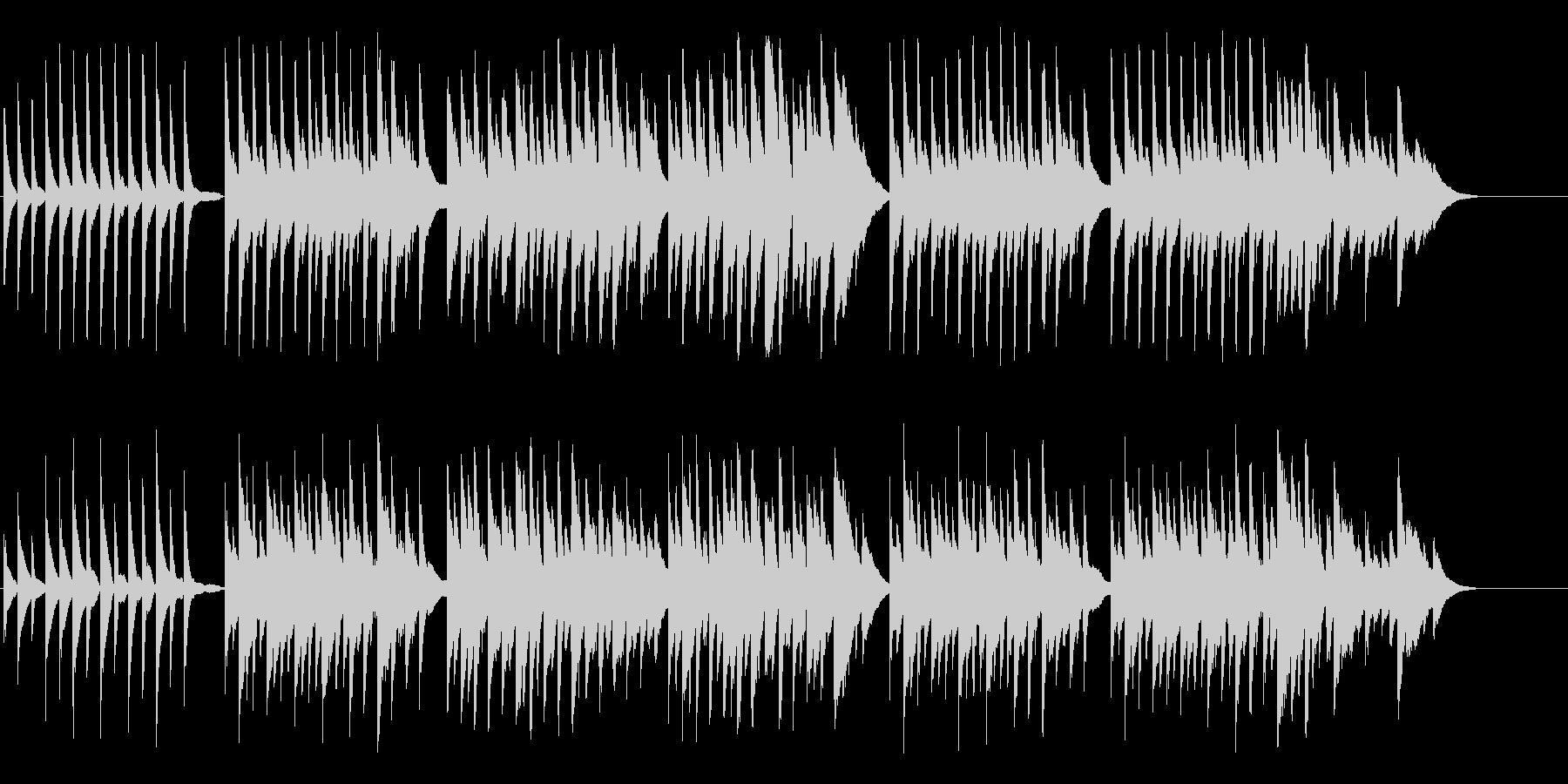 ピアノとハープの優しく温かいBGMの未再生の波形