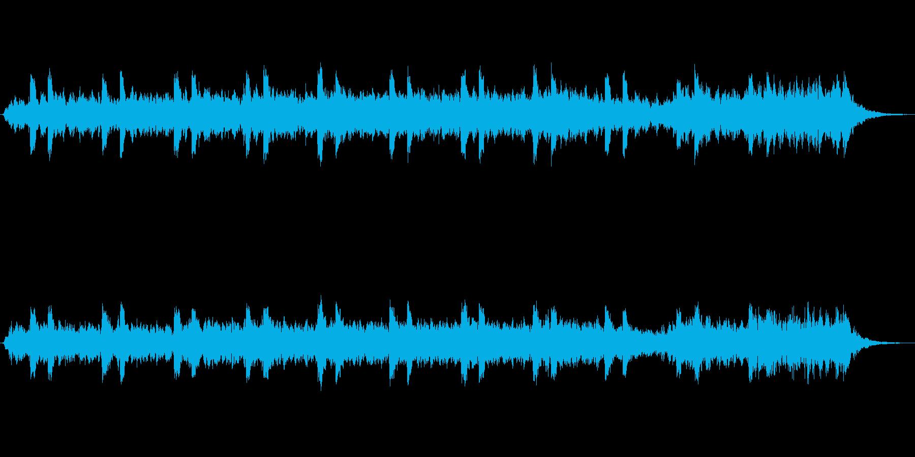 シンセパッドによる幻想的なジングルの再生済みの波形