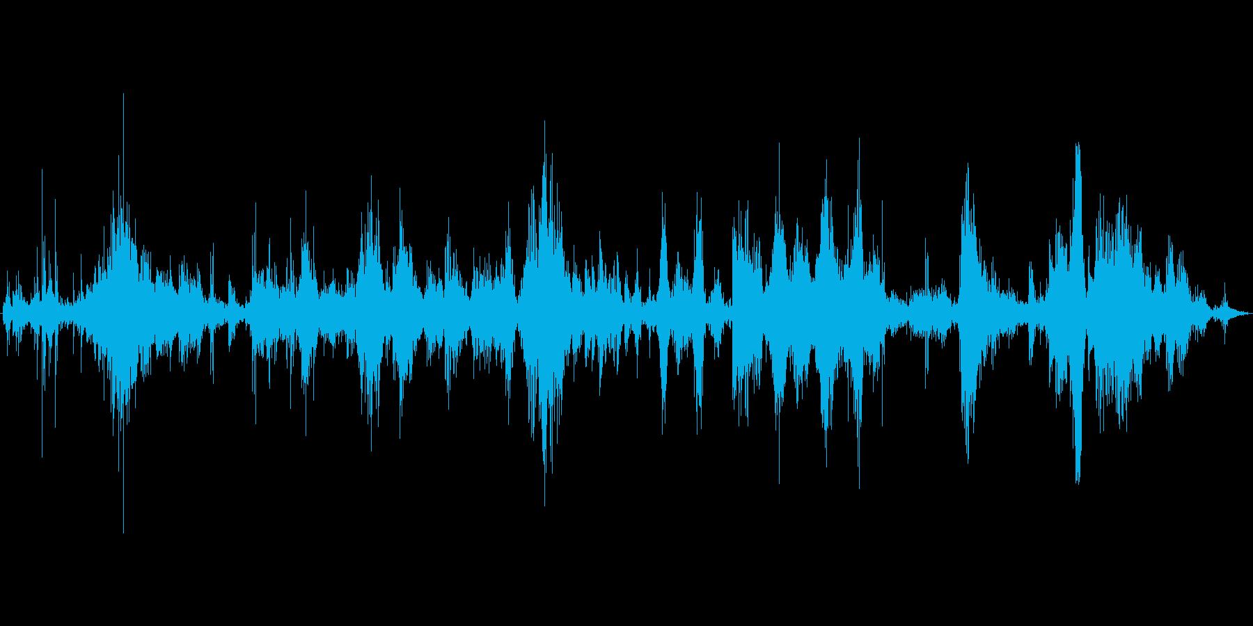 (がつがつ何かを食べる音)の再生済みの波形