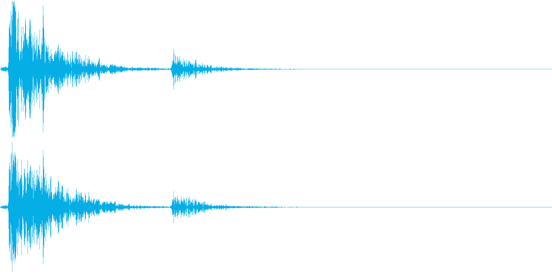 Tap カコっとボタンをタップする音の再生済みの波形
