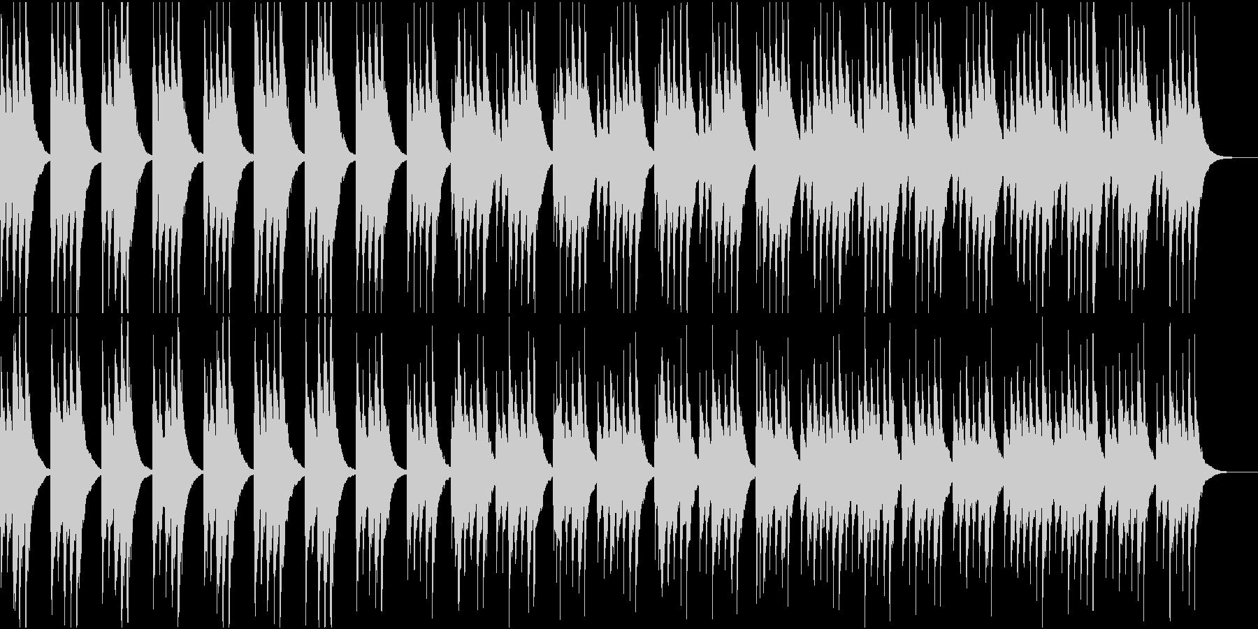 琴が奏でるお正月ムードの曲の未再生の波形