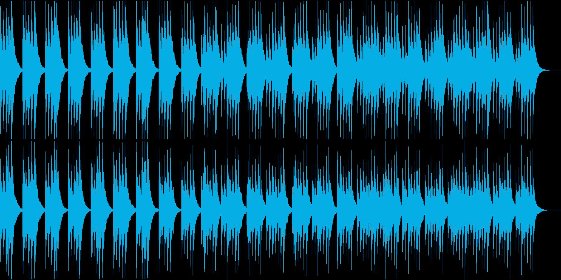 琴が奏でるお正月ムードの曲の再生済みの波形