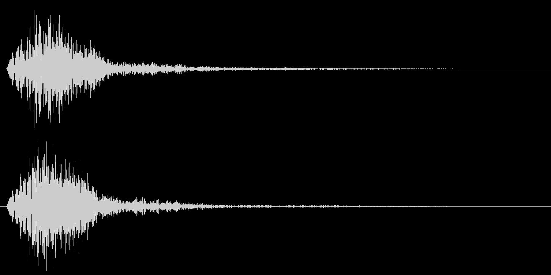 ピャン(コミカルに跳ねる音)の未再生の波形