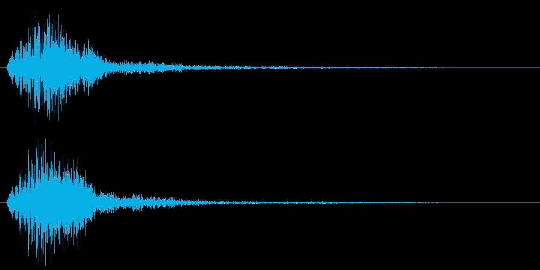 ピャン(コミカルに跳ねる音)の再生済みの波形