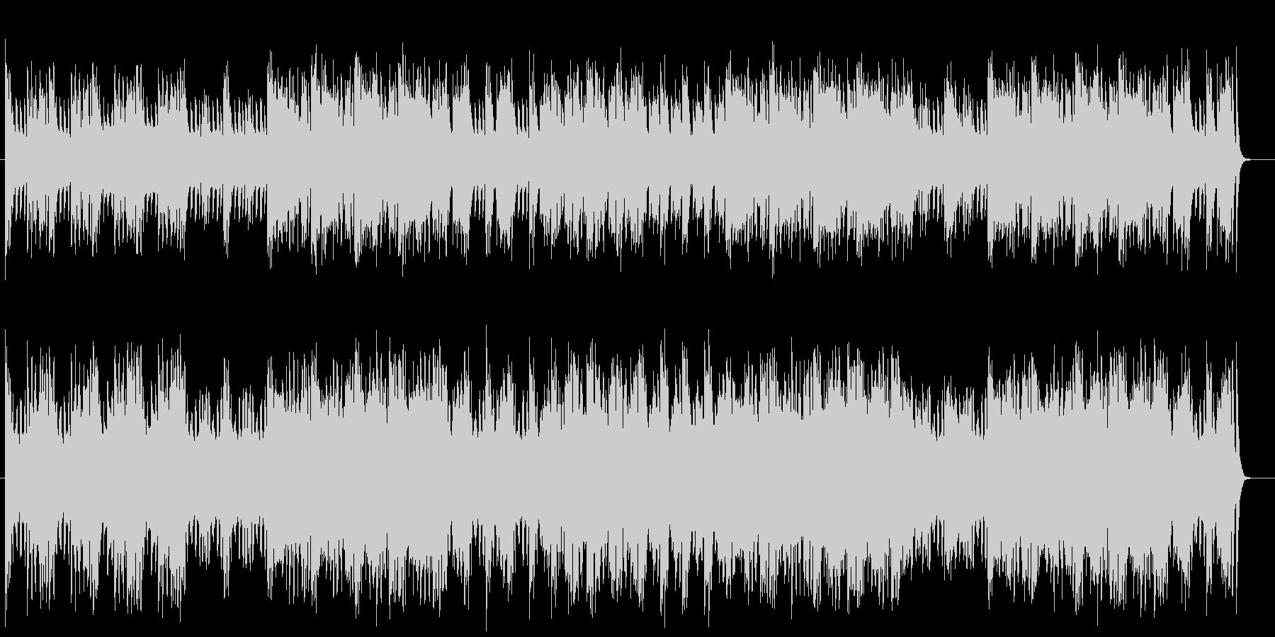 かっこいいシンセサイザーミュージックの未再生の波形