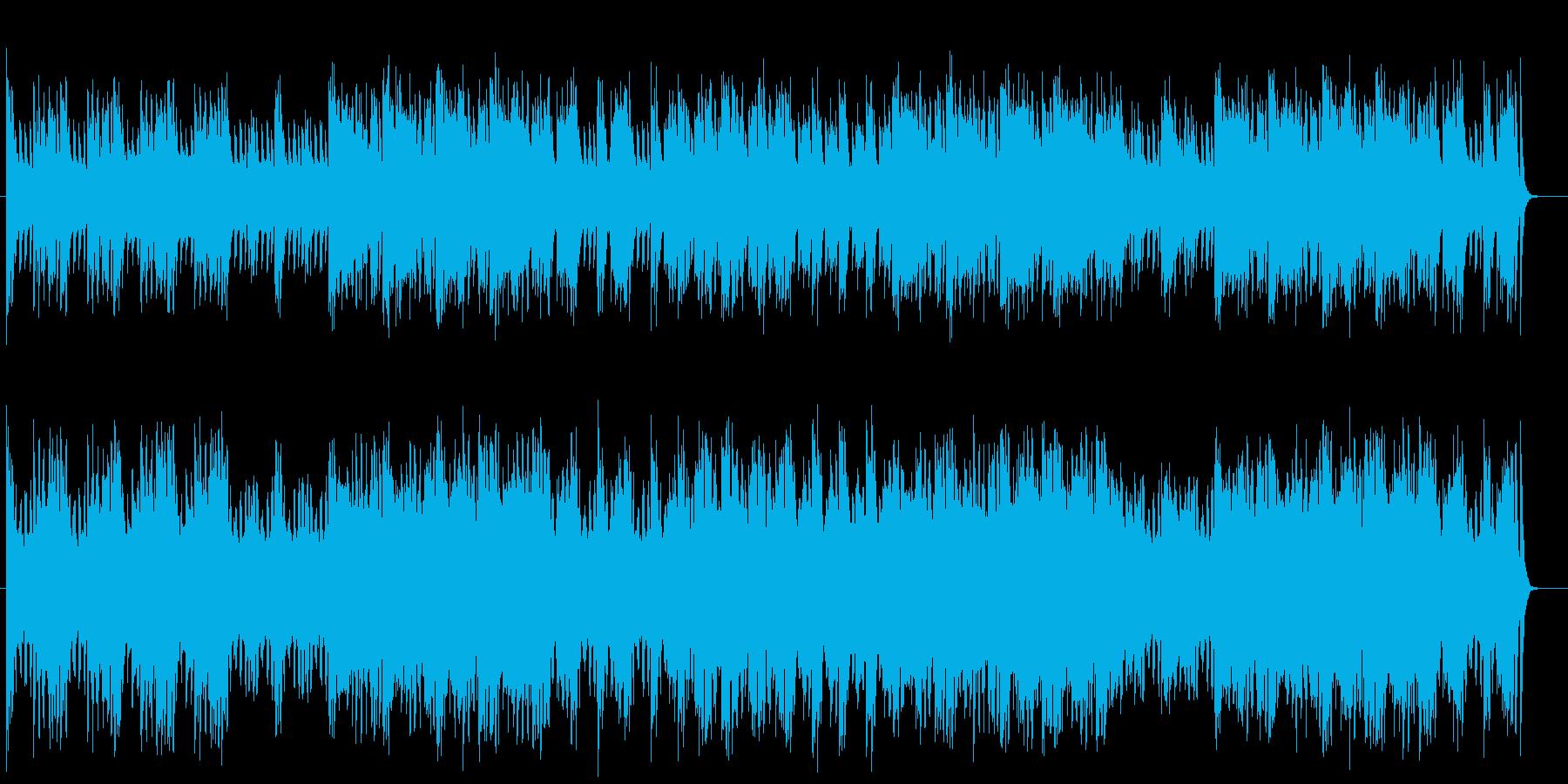 かっこいいシンセサイザーミュージックの再生済みの波形