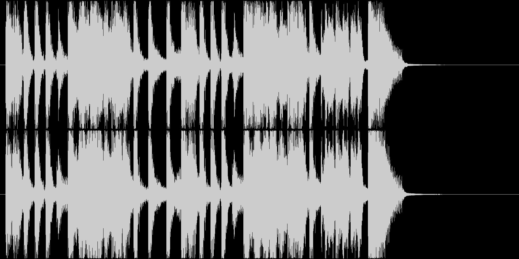 ジングル ジャズの爽やかブラス曲の未再生の波形