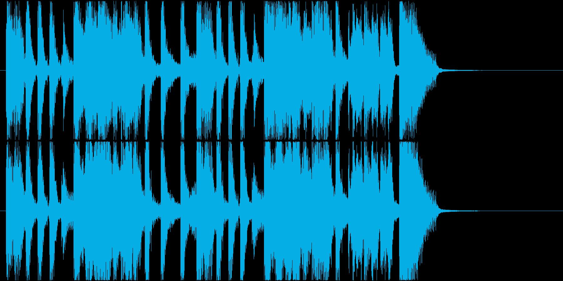 ジングル ジャズの爽やかブラス曲の再生済みの波形