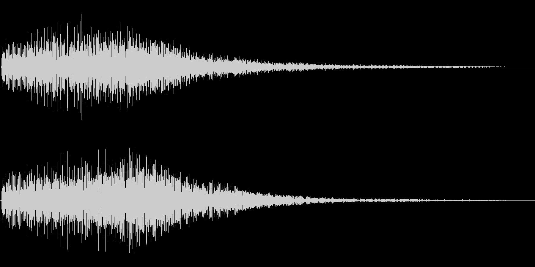 キランという短めのかわいい音です。の未再生の波形