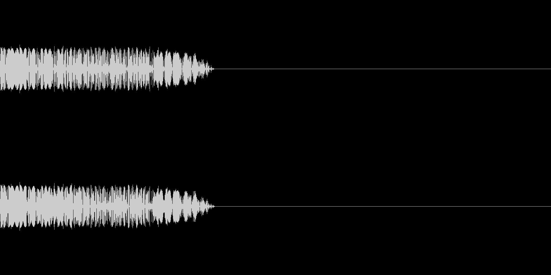 ビリビリ(感電)の未再生の波形