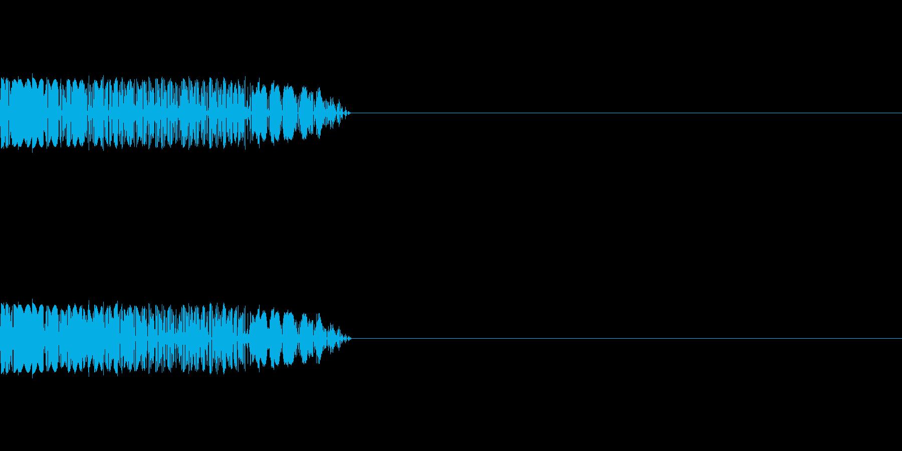 ビリビリ(感電)の再生済みの波形