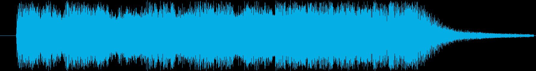 テンションが高めなジングルの再生済みの波形