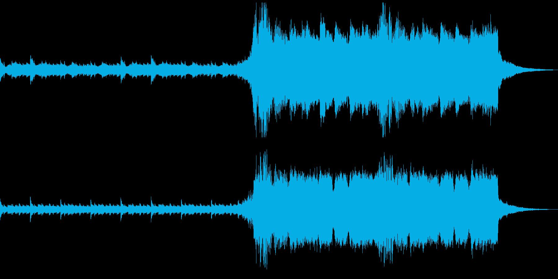 ホラー、サスペンス系のBGMの再生済みの波形