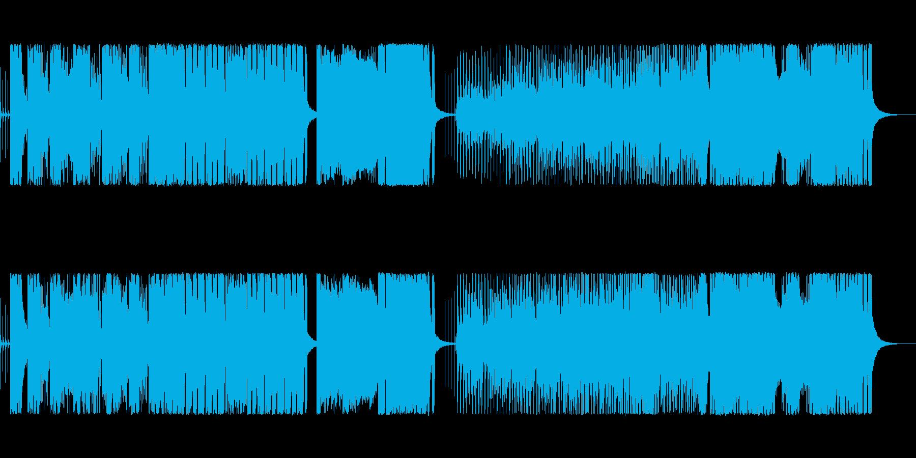 コミカル・にぎやか・テンポの良い転換曲の再生済みの波形