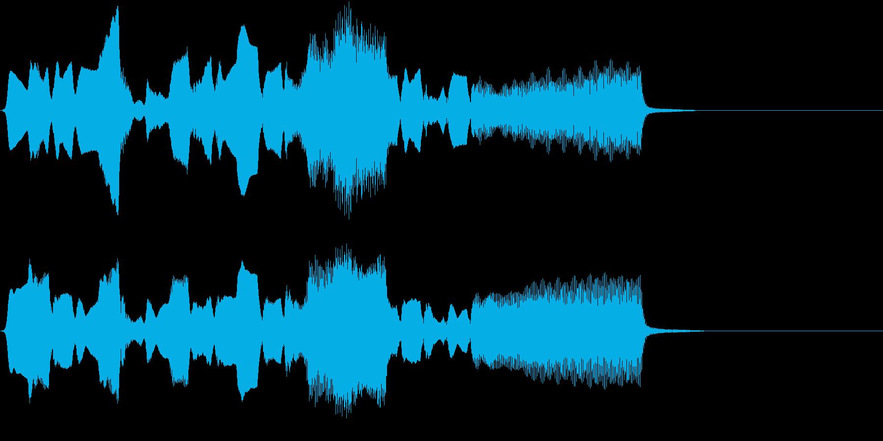 ほのぼのとした雰囲気の音の再生済みの波形