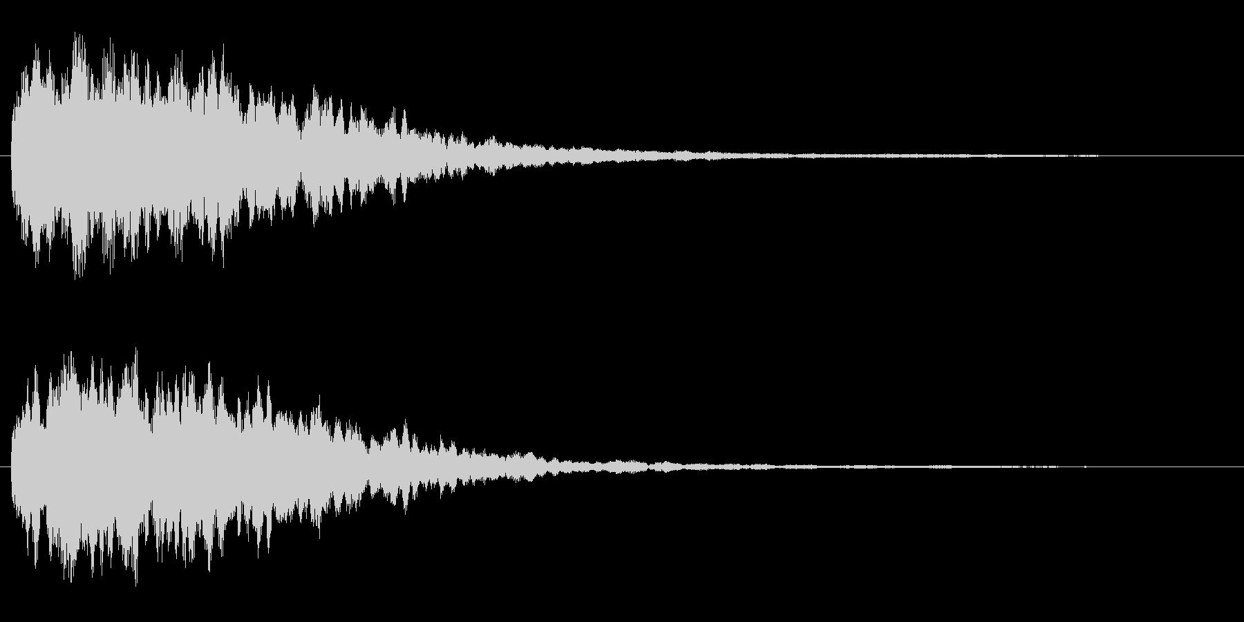 きらきら系(きれいな音)の未再生の波形
