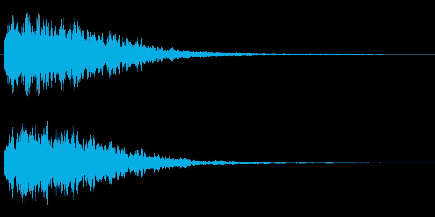 きらきら系(きれいな音)の再生済みの波形