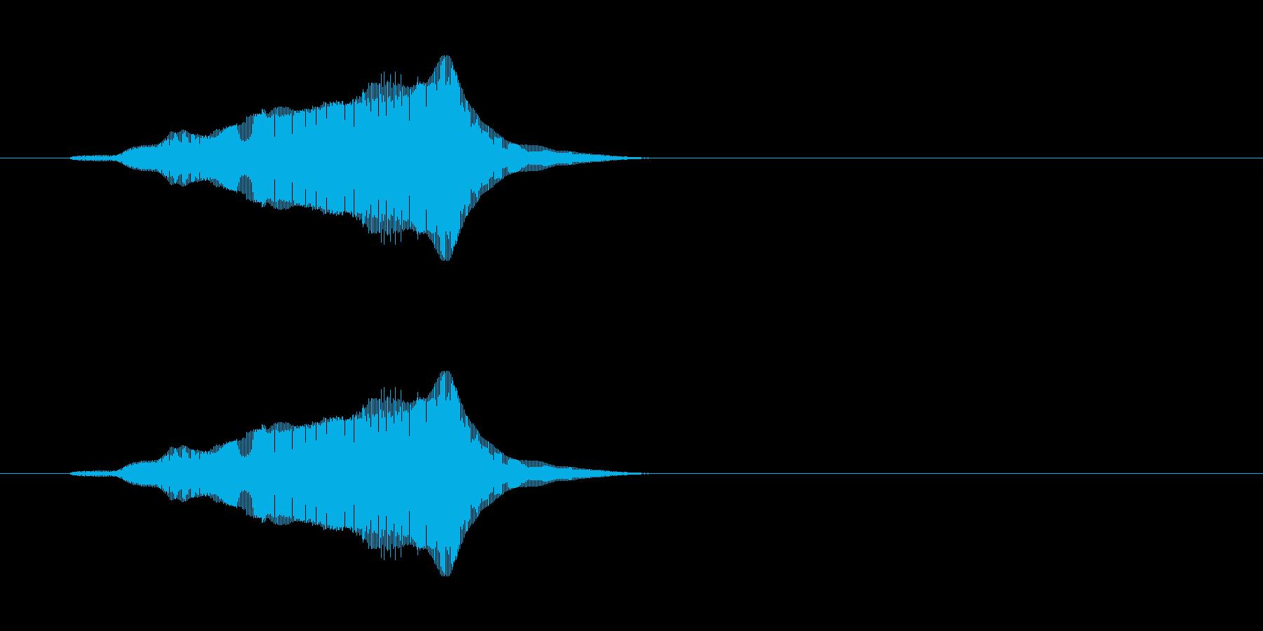 にゃーん(猫の鳴き声)パート06の再生済みの波形